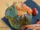 Calabacines de Niza Rellenos con Gambas y Gula