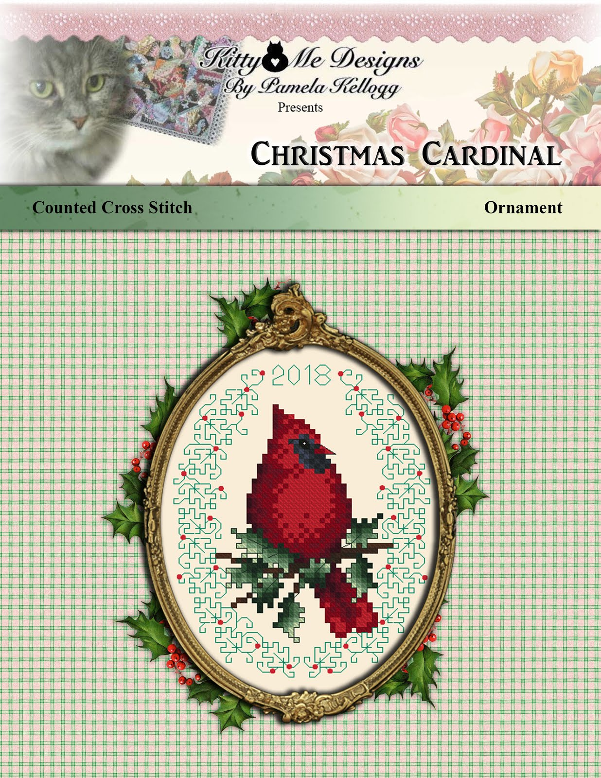 Christmas Cardinal Cross Stitch Pattern