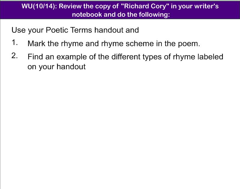 Ehs Ap Literature Composition Rhyme And Antigone