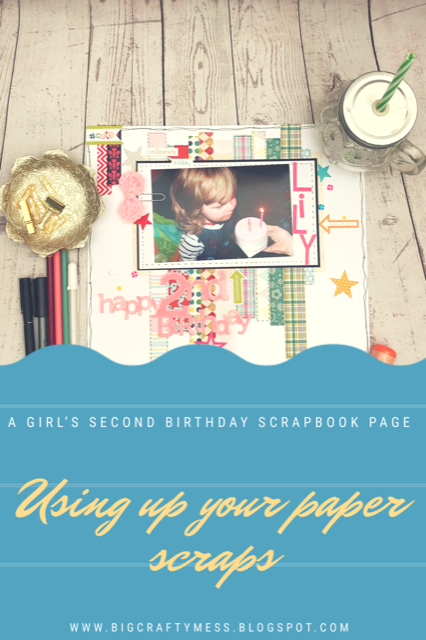 A scrapbooking page that uses up your paper scraps- Rachel Gillham Art