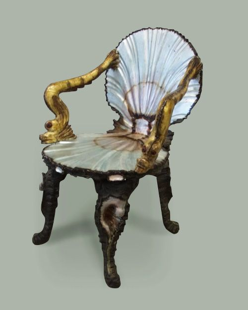 Superieur Unknown Furniture Maker The Venetian Baroque Beauty Was Made Up Of Two  Silver Scallops, One Forming The Chair Back, ...