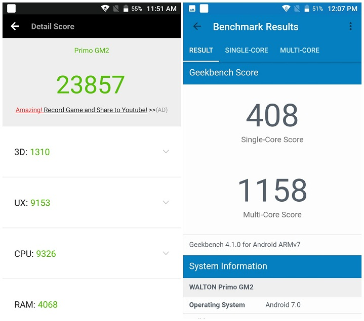 Primo GM2+ review Antutu Benchmark Score