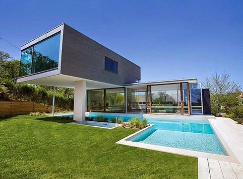 Plan Maison Contemporaine Avec Piscine Interieure