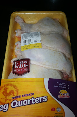 buying on sale chicken in bulk to put into the crockpot slow cooker to make shredded chicken