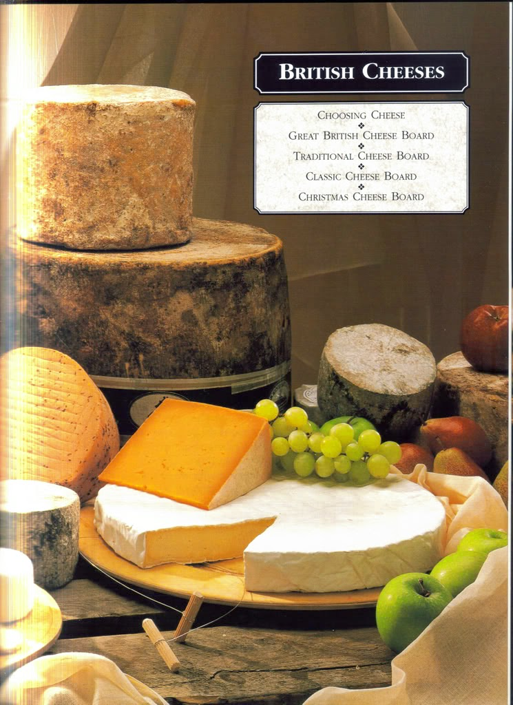 Cutting board with many wonderful cheese choices