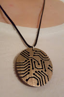 Sci Chic Circuit Board Necklace