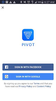 cara login di aplikasi Pivot