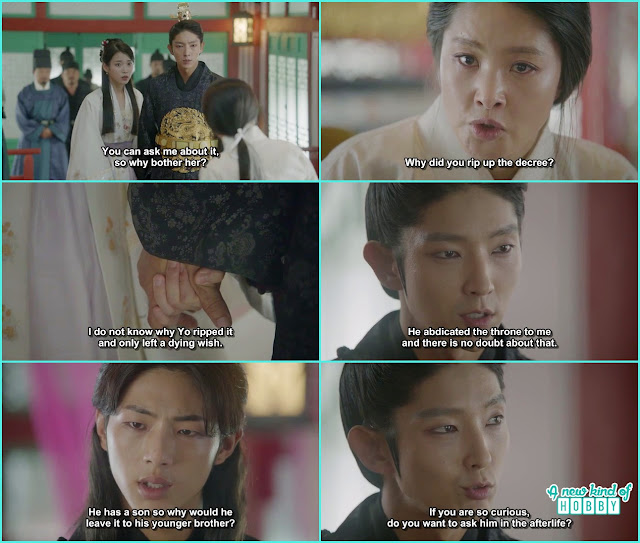14th prince accuse king wang soo infront of his face of doubting him for the king seat - Moon Lovers Scarlet Heart Ryeo - Episode 17 (Eng Sub)