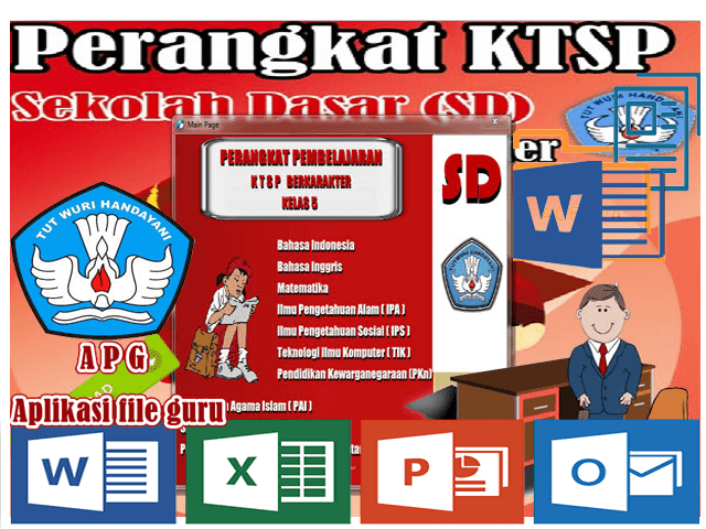 Perangkat KTSP SD Kelas 5 Mapel Bahasa Indonesia Format Words
