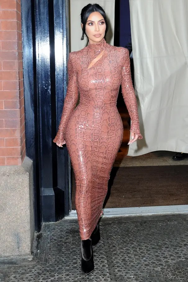 Kim Kardashian out and about in New York City.