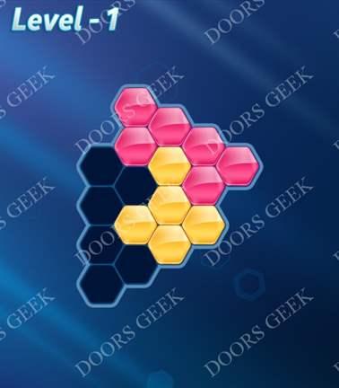 Block! Hexa Puzzle [Rainbow A] Level 1 Solution, Cheats, Walkthrough for android, iphone, ipad, ipod