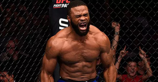 Tyron Woodley celebrate
