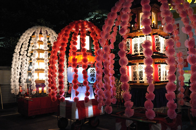 Mantouren Gyoretu (lantern parade), Nagareyama City, Chiba Pref.