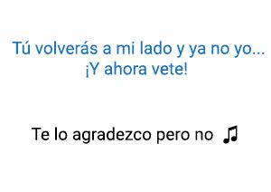 Alejandro Sanz Shakira Te Lo Agradezco pero No significado de la canción.