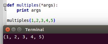 Múltiples argumentos en Python