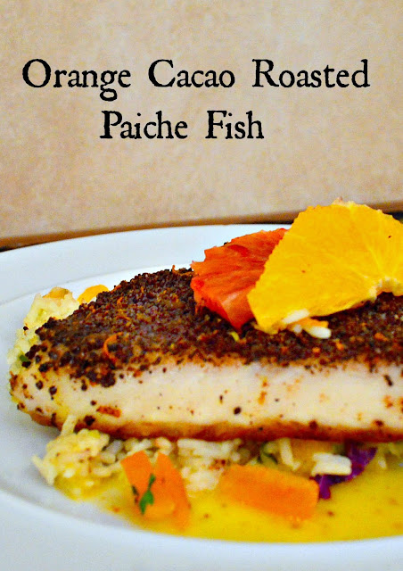 Orange Cacao Spice Rub and  Browned Butter Sauce make the best baked fish! www.thisishowicook.com #spicerubs #fishrecipe #brownedbuttersauce