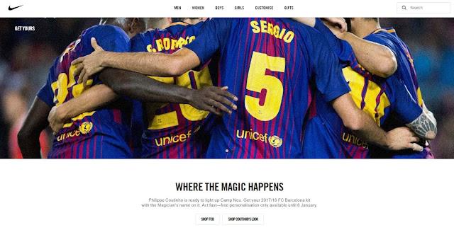 Nike memberikan bocoran Transfer Barcelona