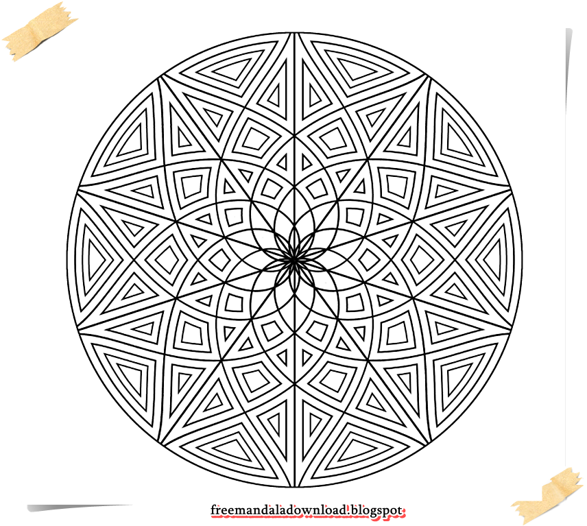 Hard Design Malvorlagen | Free Mandala Download