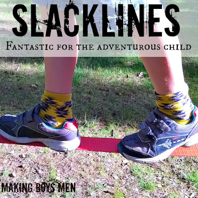 Slacklines - fantastic fun for adventurous kids