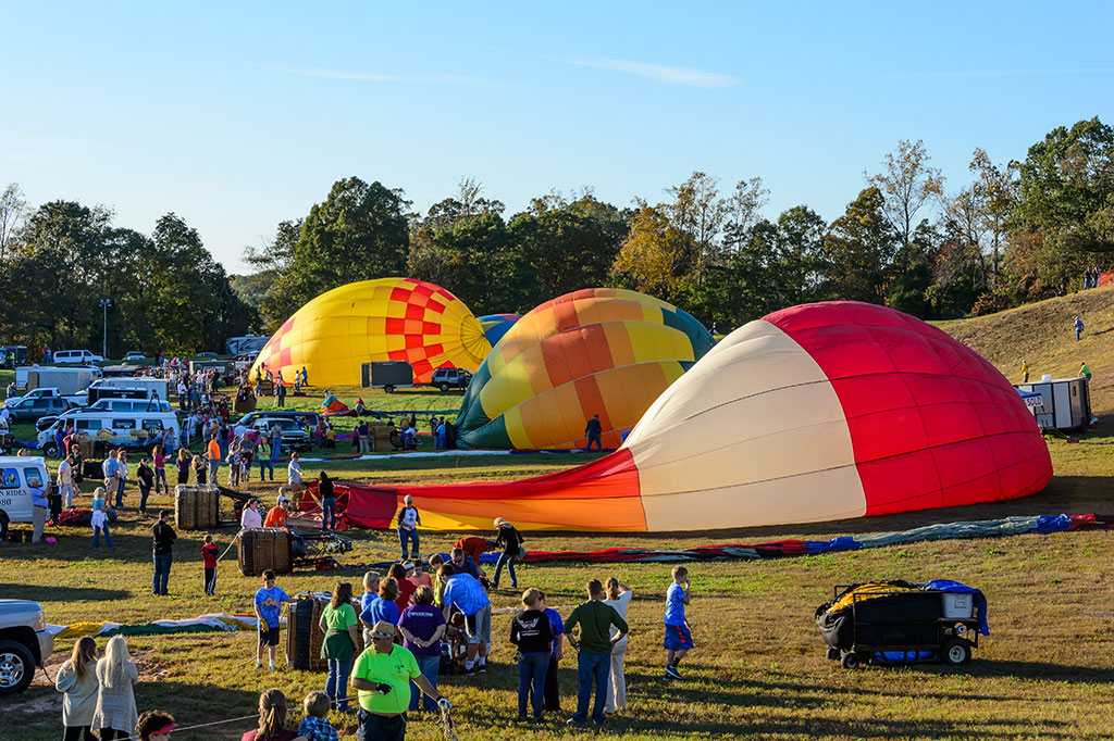 Balloons filling at Carolina BalloonFest