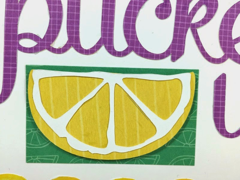 Cricut Pucker Up card closeup
