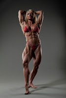 Professional female bodybuilder