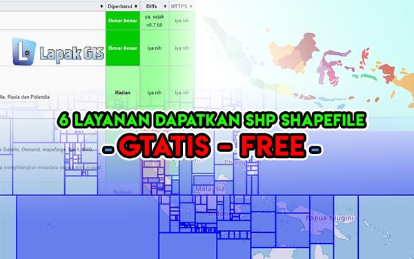 6 Layanan lengkap untuk Mendapatkan SHP Shapefile Gratis Indonesia