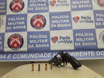 Dono de bar é preso com arma de fogo em Inhambupe