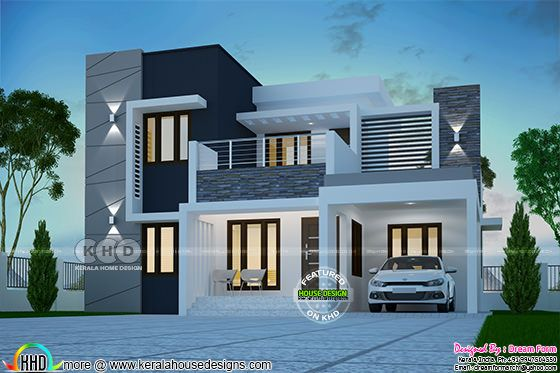 4 bedroom 1725 sq.ft beautiful modern home design