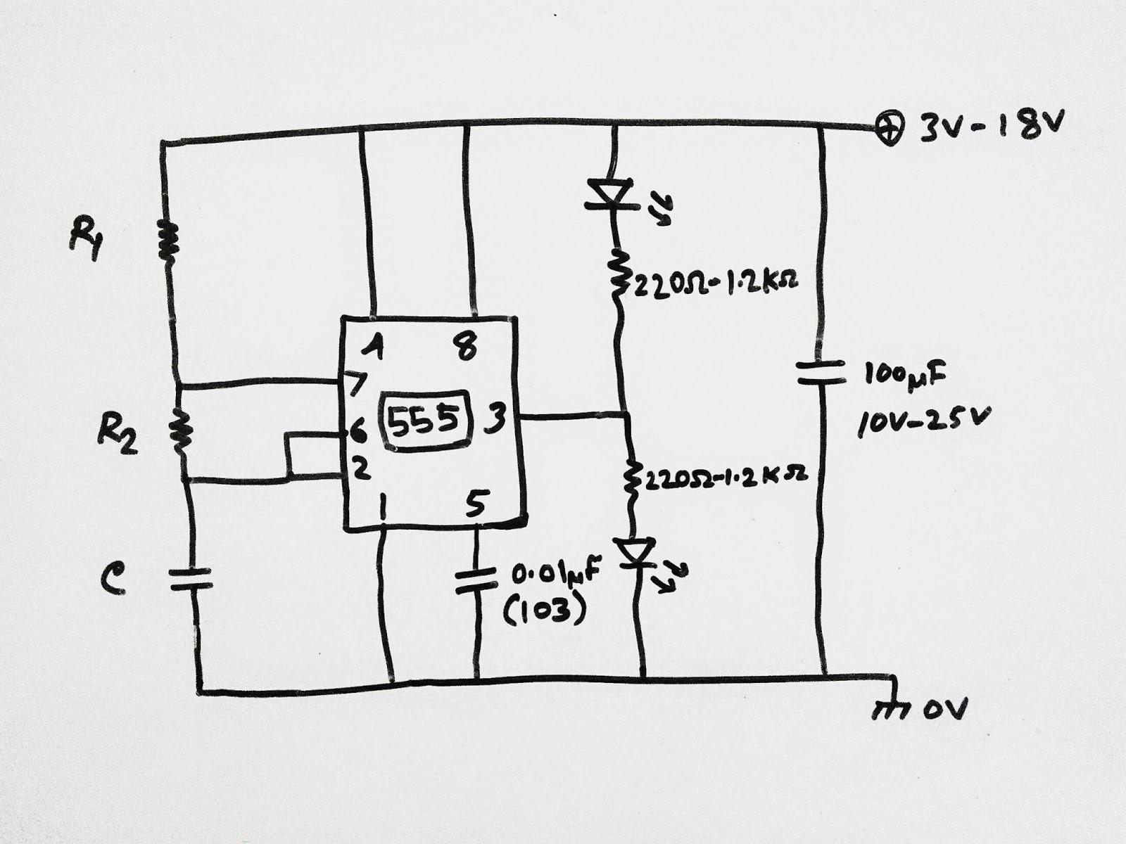 Scavenger S Blog Led Flasher Using 555 Timer Ic