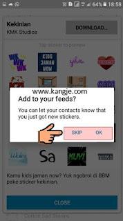 Langkah 6 Cara Download Stiker BBM Gratis