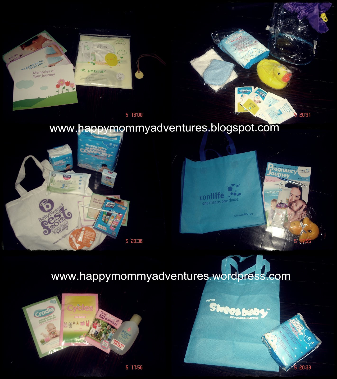 Belly Blessed Swag Bag and events giveaways