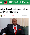 Akpabio Decries Conduct Of PDP Officials