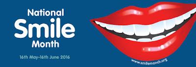 National Smile Month banner logo