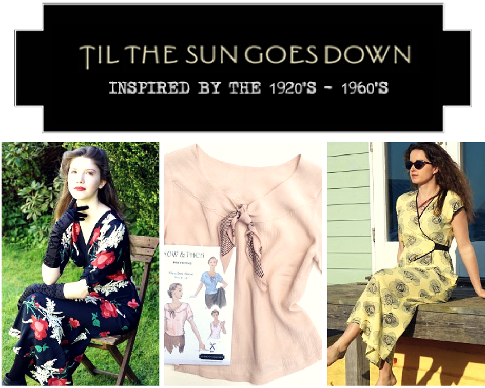 the #wardrobebuilder project October - Vintage; Til The Sun Goes Down pattern and fabric kit giveaway