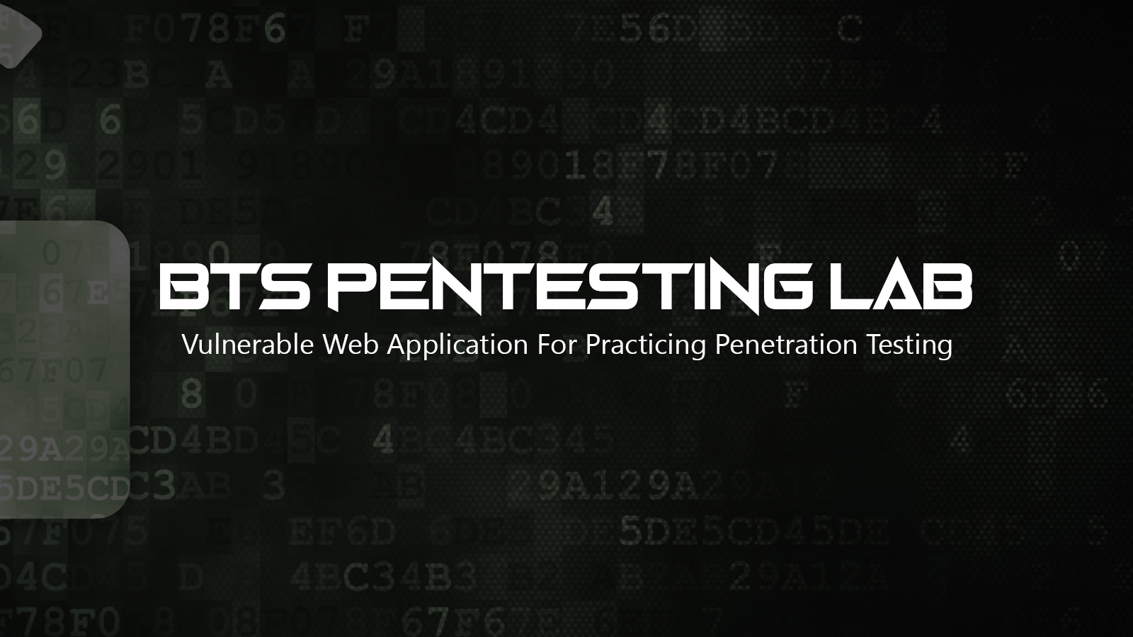 BTS PenTesting Lab - Vulnerable Web Application