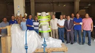 نقل ٧١ قطعة اثرية من مخزن البهنسا بمحافظة المنيا إلى المتحف المصرى الكبير