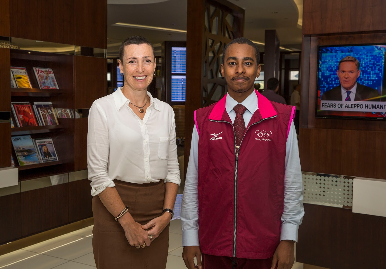 Amb. Saeed and Ms. Coppell