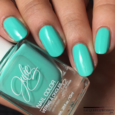 nail polish swatch of Tropical, a mint creme polish by JulieG