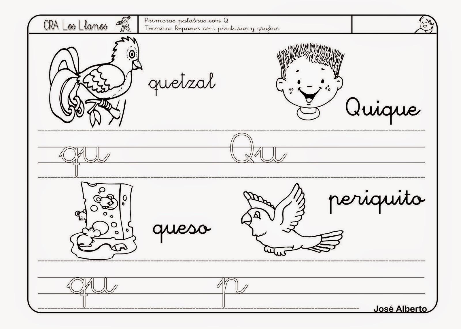 Dibujos Para Colorear Letra Q: NO QUIERO SER PETER PAN: REPASO LETRA Q