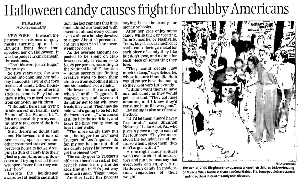 then we have this interesting article from 1983 the year after the tylenol poisonings crippled the halloween industryand as i detail in my book - Article About Halloween