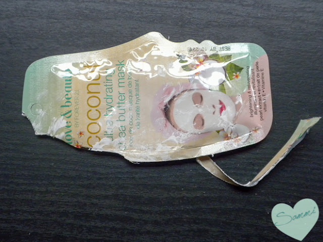Trash Talk: December 2015 Empties | FOREVER 21 Ultra Hydrating Coconut Face Mask