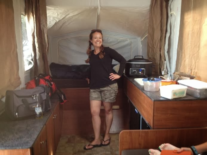 Crockpot cooking and me in camping mode!