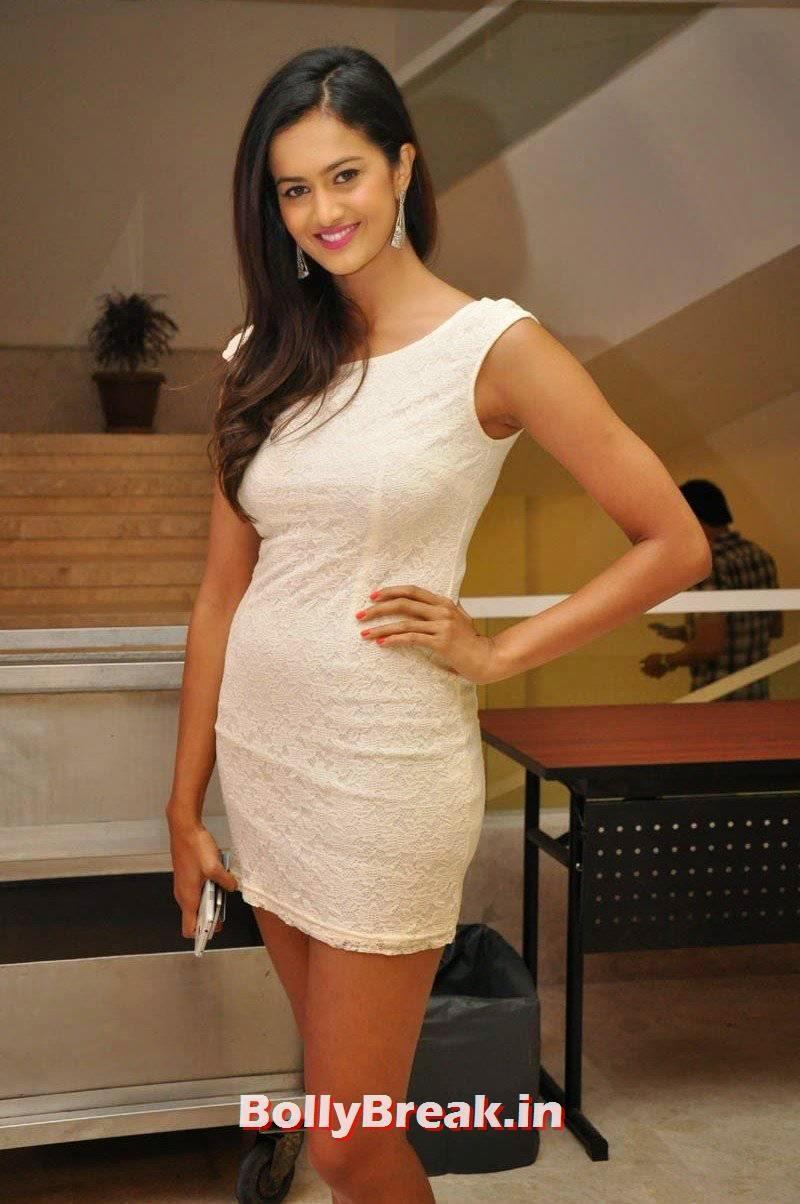 Shubra Aiyappa Stills, Shubra Aiyappa hot Figure Hd Pics in White Dress