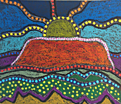 Marymaking Uluru Landscape Aboriginal Inspired Art