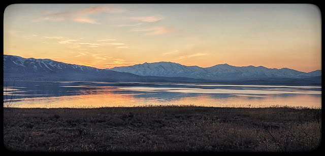 Utah Lake at Sunset