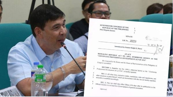 Recto's bill to abolish CPD Law now filed in Senate