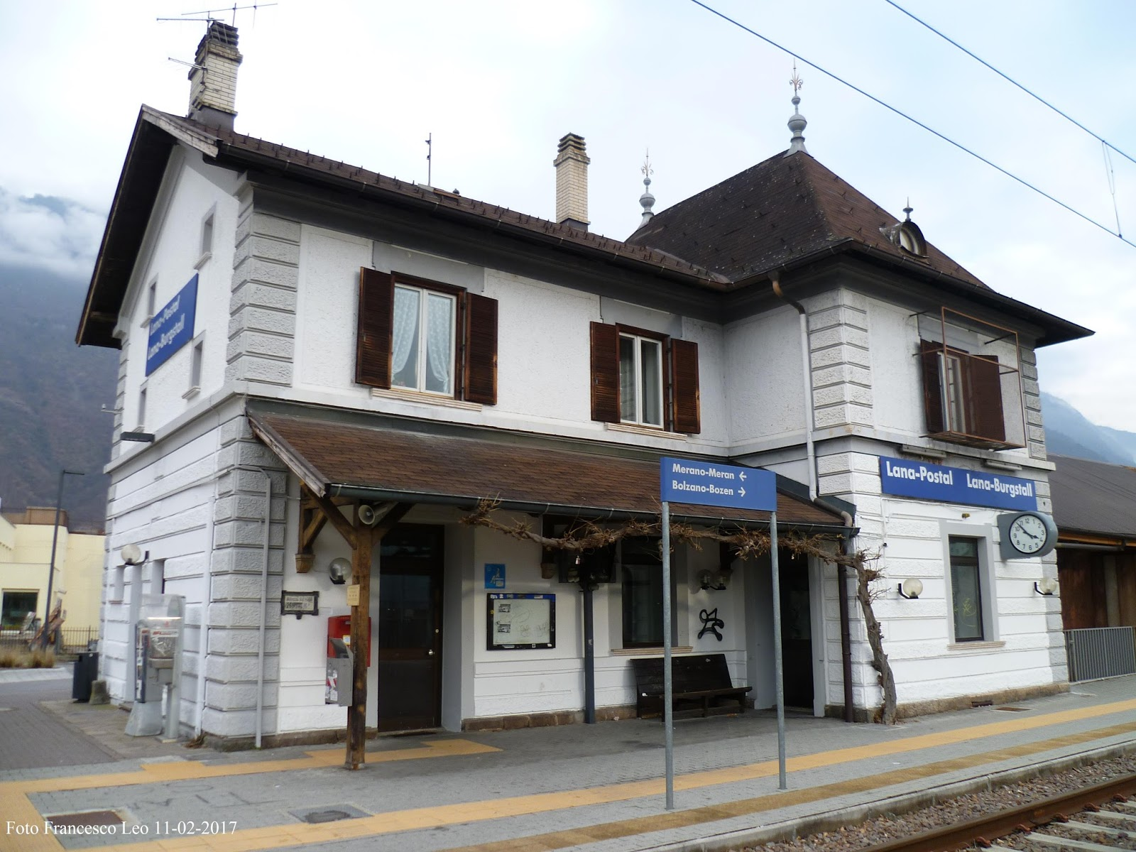 Comune Di Lana Bz la ferrovia lana postal