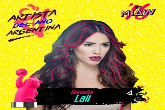 Lali Espósito ganó el MTV MIAW como artista del año en Argentina