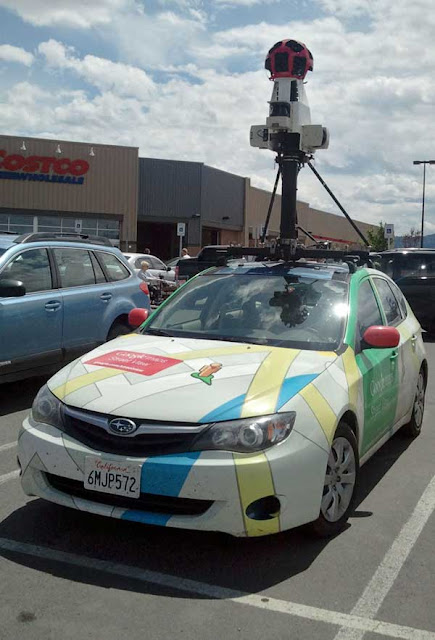 Google Street View Subaru Impreza at the Helena, MT Costco